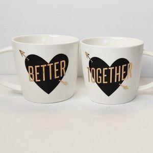 Slant Collections Couples Heart Mugs